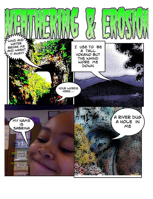 4th Grade Weathering & Erosion Comic