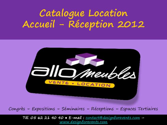 Catalogue Location Accueil Réception 2012
