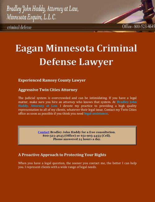 Bradley John Haddy Attorney At Law, Minnesota Esqiure, L.L.C.: E