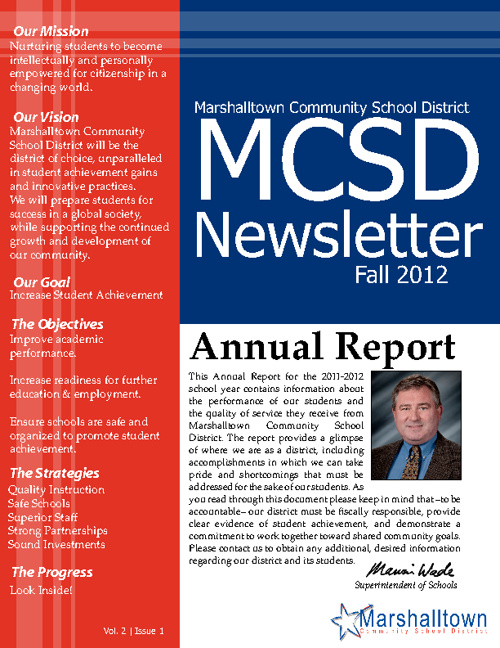 MCSD Newsletter - Fall 2012: Annual Report to the Community