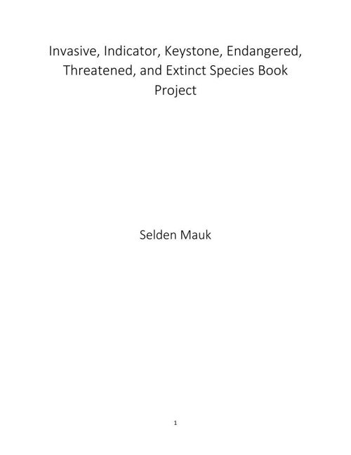 Species Book Submission