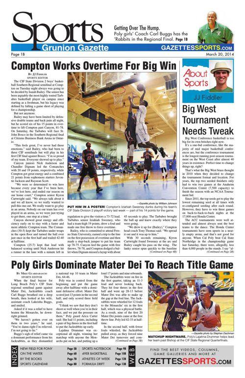 Gazette Sports   March 20, 2014