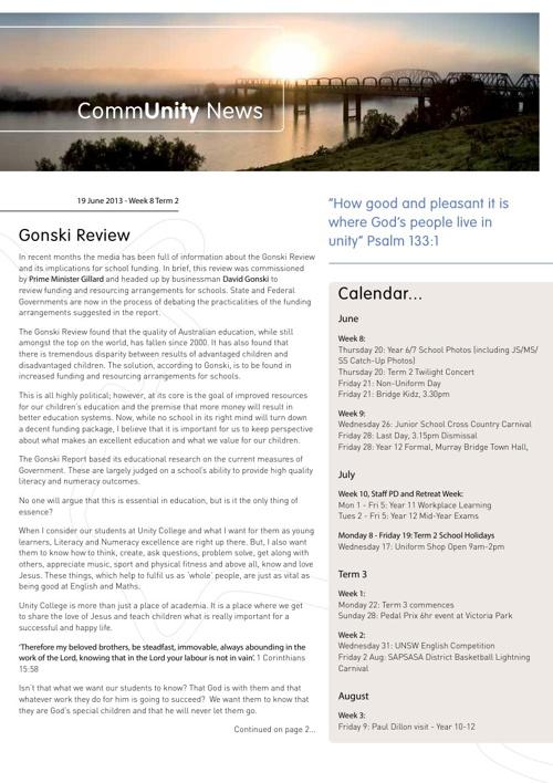 CommUnity News Week 8 Term 2
