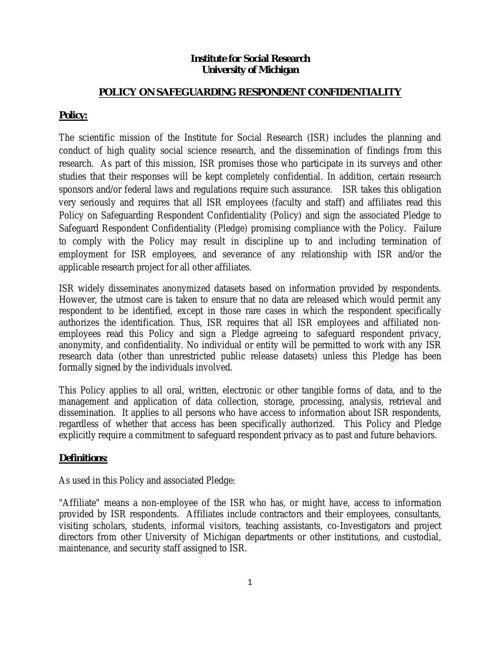 PolicyOnConfidentiality