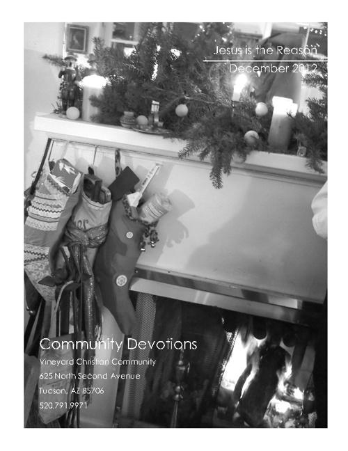 December 2012 Devotional
