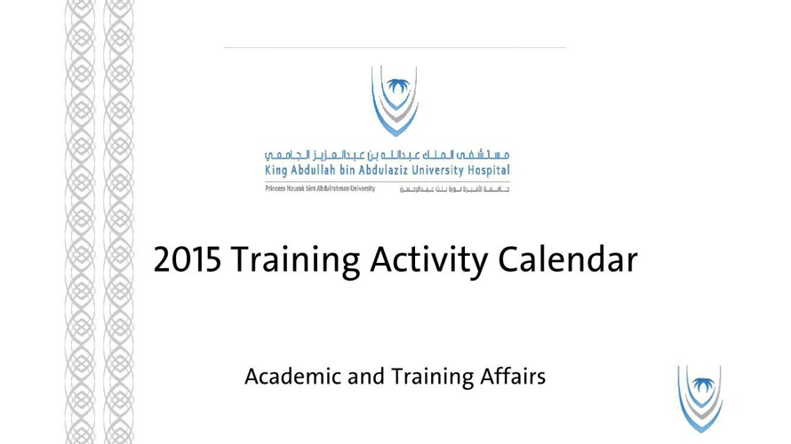 ATA 2015 Training Activity Calendar