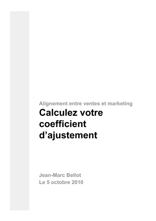 Calculez votre coefficient d'alignement entre vente et marketing
