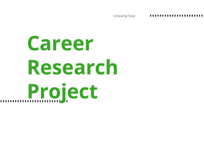 District Career Cluster Research Project