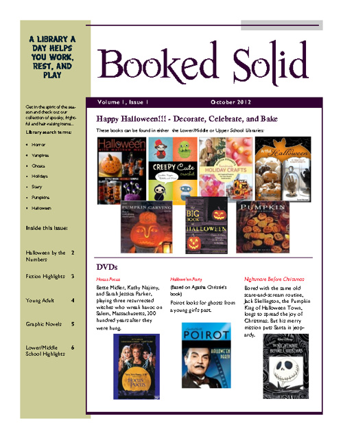 October 2012 Library Newsletter