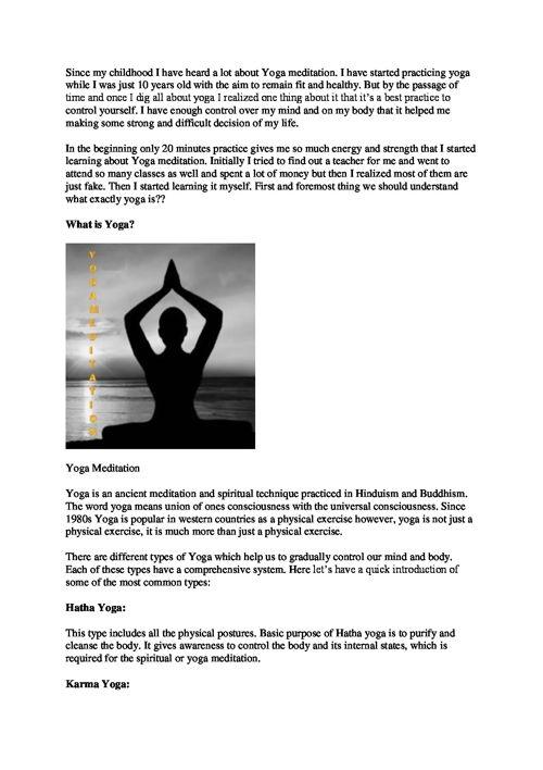 Yoga Meditation to get control over Mind by mybreezylife.com