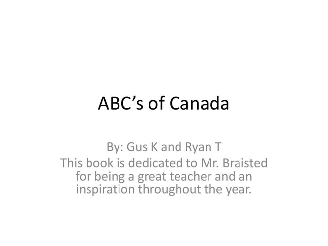 ABC's of Canada