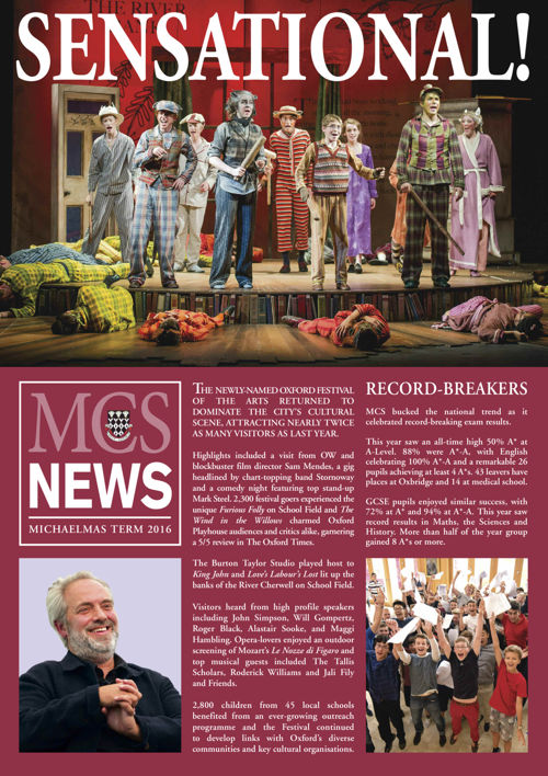 Michaelmas Newsletter 2016