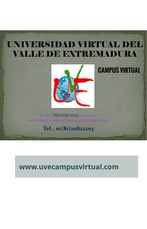 UNIVERSIDAD VIRTUAL DEL VALLE DE EXTREMADURA