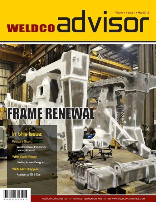 Weldco Advisor - Volume 5 | Issue 1 | May 2013