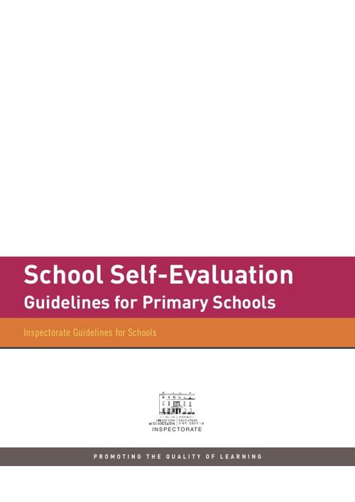 School Self Evaluation Guidelines (Primary)