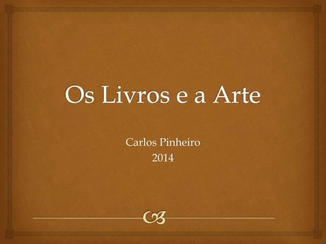 Os livros e a arte