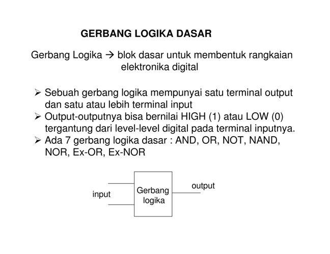 Gerbang Logika Dasar pdf