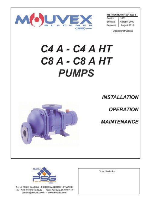 Mouvex C4A - C4A HT & C8A - C8A HT Installation