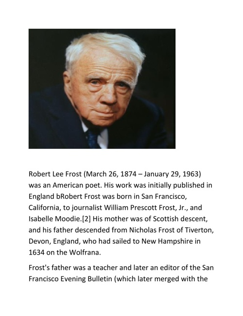 robert frosts life and achievements essay Immediately download the robert frost summary, chapter-by-chapter analysis, book notes, essays, quotes, character descriptions, lesson plans, and more - everything you need for studying or teaching robert frost.
