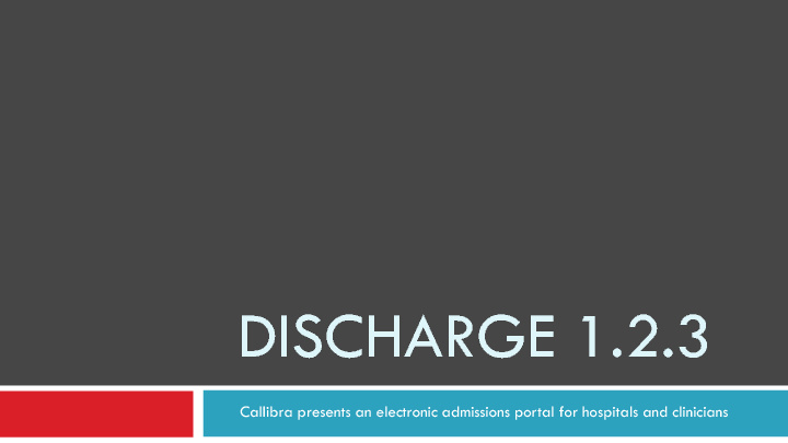 Discharge 1.2.3 Flip Page Sample