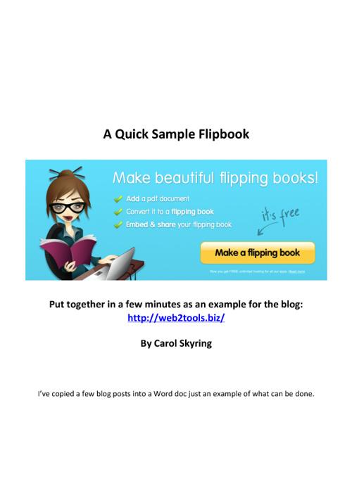 Carol's Sample Flip