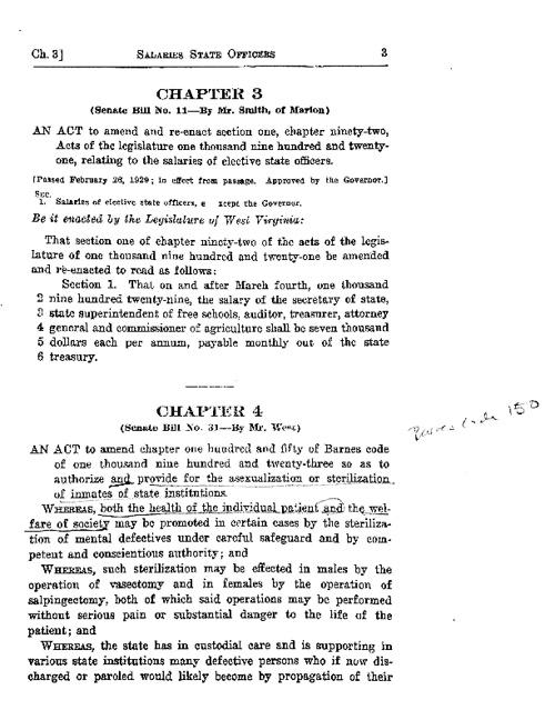 1929 WV Sterilization Act