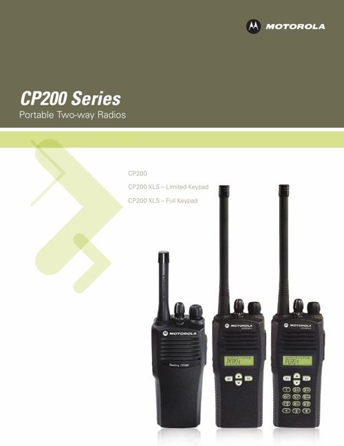 Motorola CP200 Radio Documents