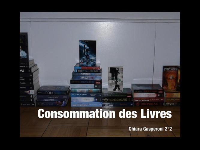 Projet de SES: la consommation des livres
