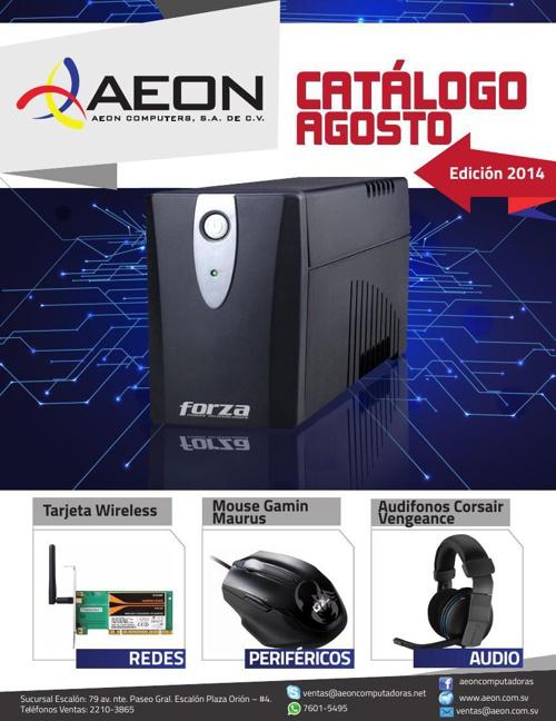 AEON COMPUTERS- CATALOGO JULIO