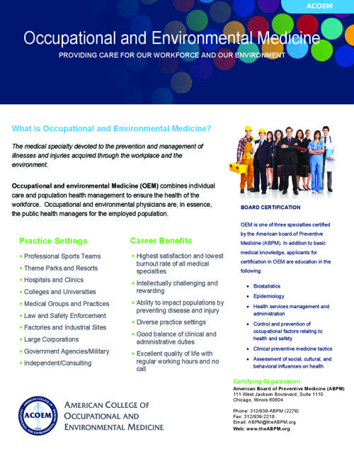 ACOEM Membership Benefits for Medical Students