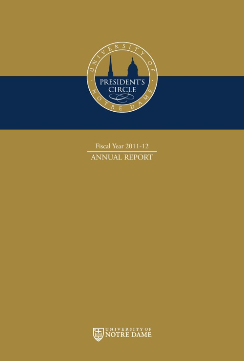 President's Circle Annual Report 2011-2012