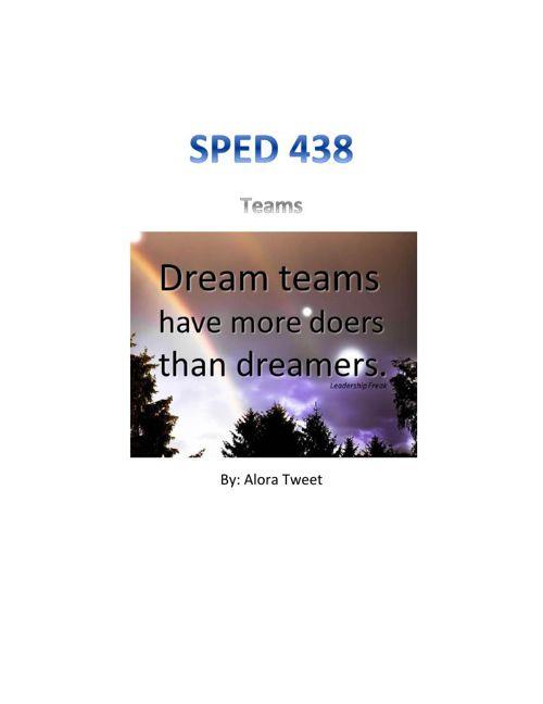SPED 438- Teams