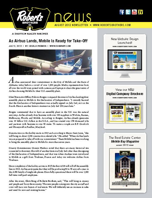 August 2012 RBI Newsletter