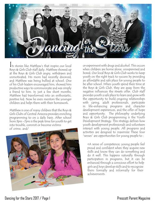 Prescott Parent Magazine - Dancing for the Stars 2017