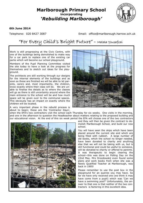 newsletter june 6th 2014