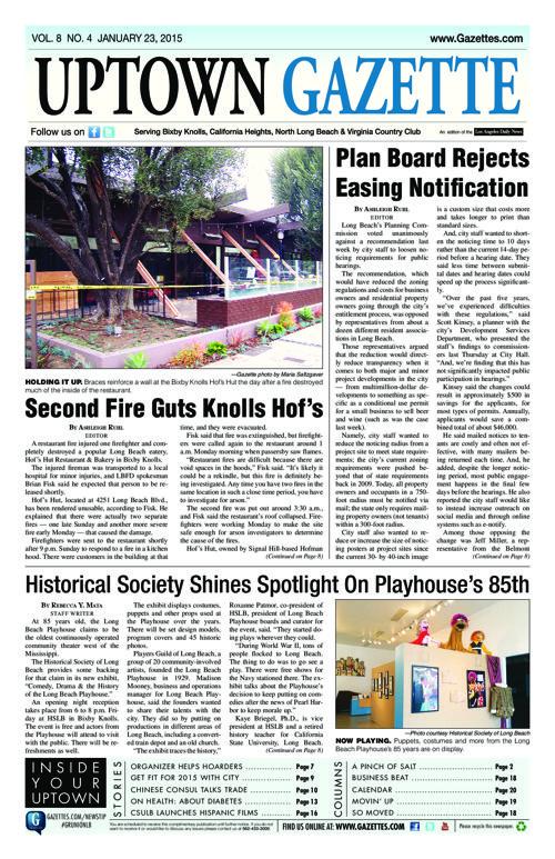 Uptown Gazette  |  January 23, 2015