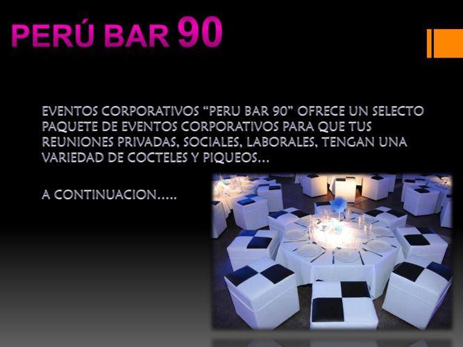 PERÚ BAR 90 CONOCENOS!!