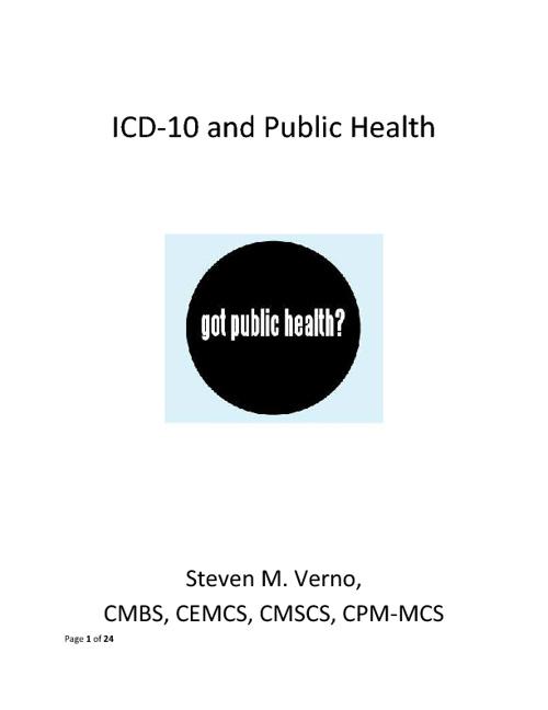 ICD-10 Public Health