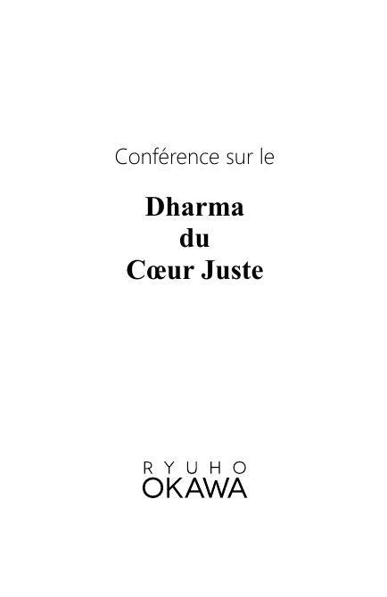 Conférence sur le Dharma du Coeur Juste