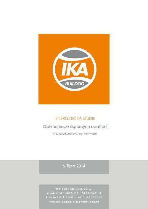 Energeticko ekonomiscká studie - IKA BUILDOG, s.r.o.