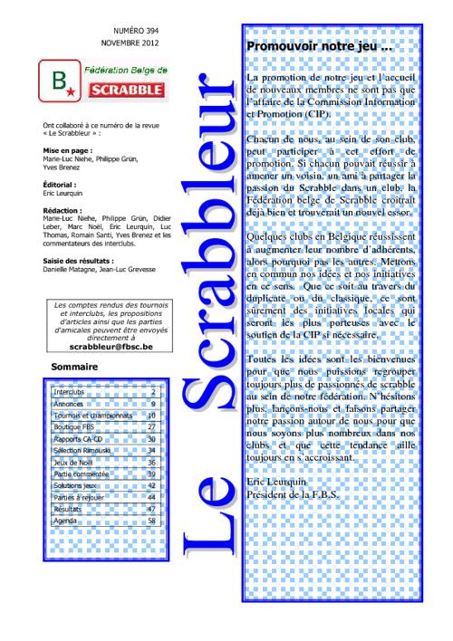Scrabbleur Novembre 2012