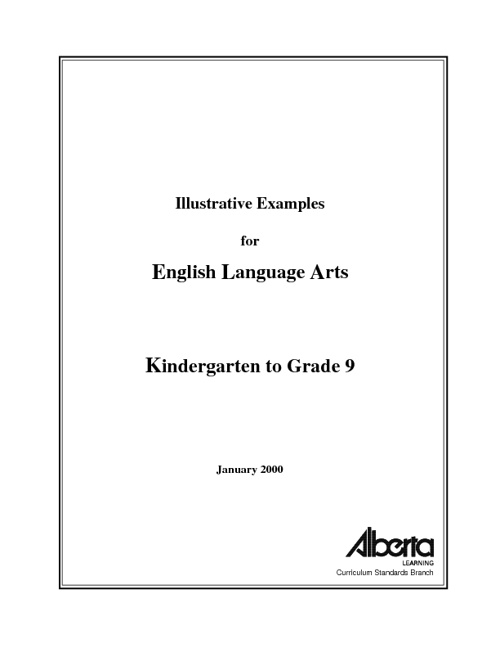 Alberta Grade 7 Language Arts Program of Study