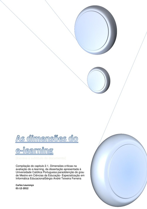As dimensões do e-learning