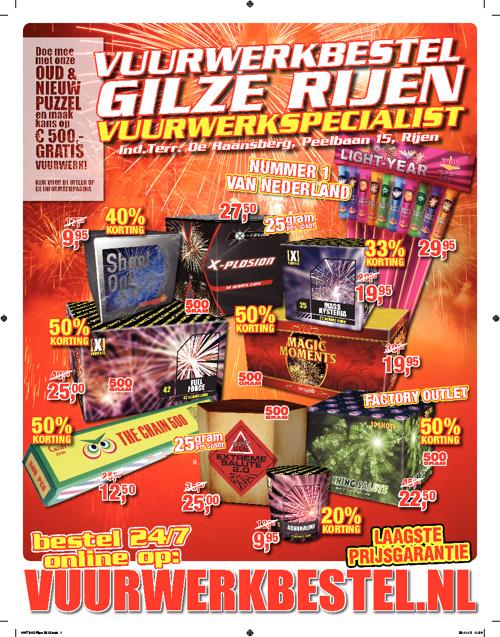 Vuurwerkbestel folder 2012