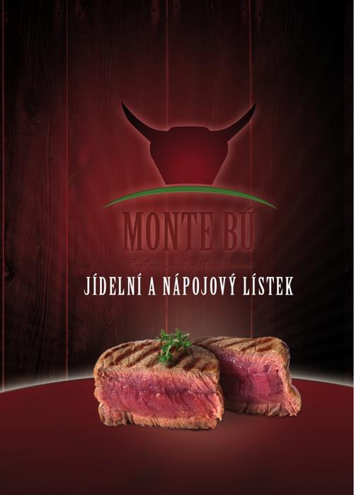 Jídelní a nápojový lístek - Restaurant a steakhouse Monte Bú