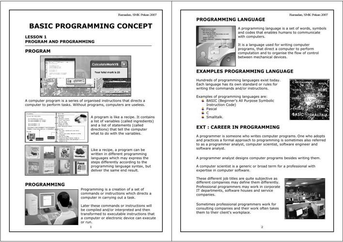 BASIC PROGRAMMING (LA5)
