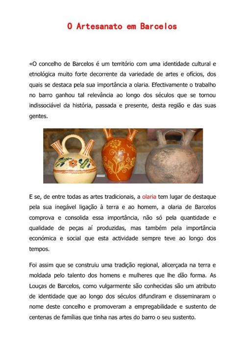 O artesanato de Barcelos