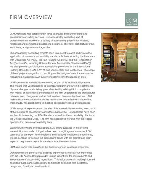 LCM ARCHITECTS FRIM INFORMATION 02052016