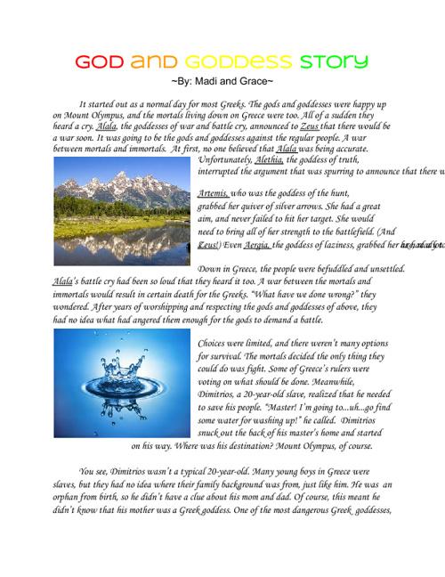 Gods and Goddesses Story