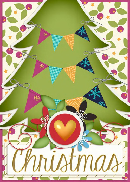 Non-Traditional Christmas Tree Card